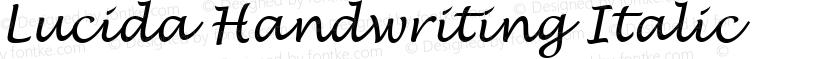 Lucida Handwriting Italic Preview Image