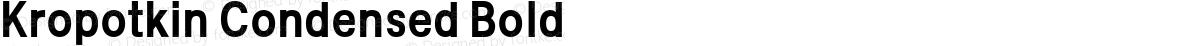 Kropotkin Condensed Bold