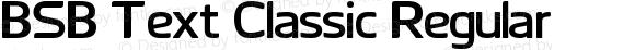 BSB Text Classic Regular Version 1