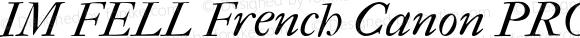 IM FELL French Canon PRO Italic