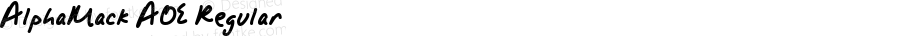 AlphaMack AOE Regular Macromedia Fontographer 4.1.2 12/7/98