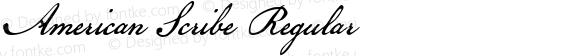 American Scribe Regular Macromedia Fontographer 4.1.3 7/4/03