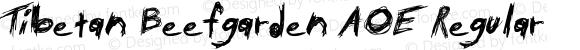 Tibetan Beefgarden AOE Regular Macromedia Fontographer 4.1.2 12/7/98