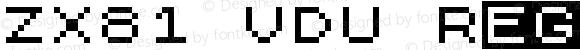 ZX81 VDU Regular Version 1.0