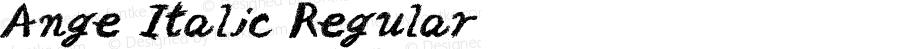 Ange Italic Regular Macromedia Fontographer 4.1J 02.7.8