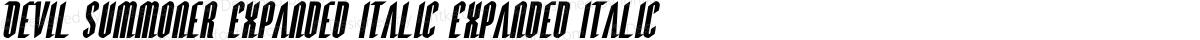 Devil Summoner Expanded Italic Expanded Italic