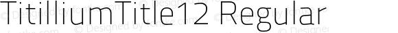 TitilliumTitle12 Regular