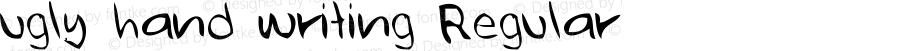 ugly hand writing Regular Version 001.000