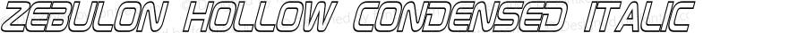 Zebulon Hollow Condensed Italic
