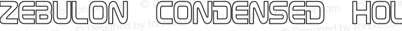 Zebulon Condensed Hollow Regular Version 1.10 July 11, 2014