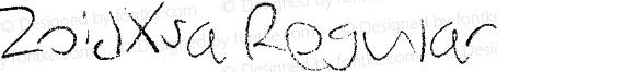 ZoidXsa Regular Version 1.00 June 25, 2012, initial release, www.yourfonts.com