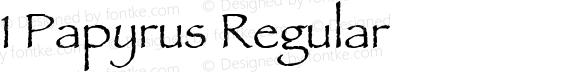 1 Papyrus Regular 1.0