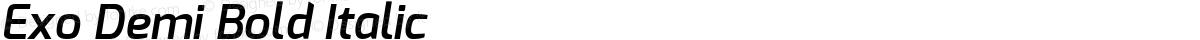 Exo Demi Bold Italic