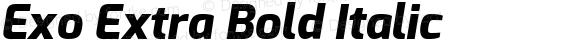 Exo Extra Bold Italic