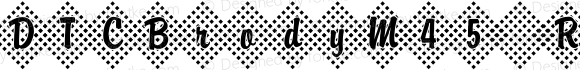 DTCBrodyM45 Regular Version 001.005