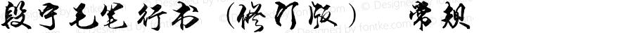 段宁毛笔行书(修订版) 常规 Version 1.00 February 12, 2015, initial release