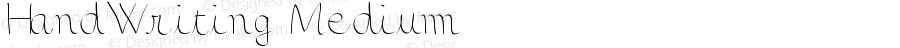 HandWriting Medium Version 001.000