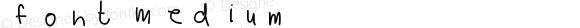 Font Medium Version 001.000