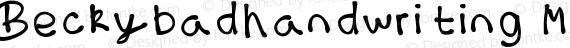 Beckybadhandwriting Medium preview image