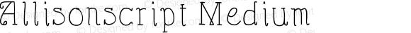 Allisonscript Medium