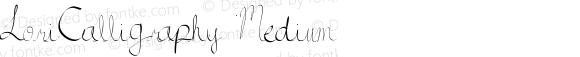 LoriCalligraphy Medium