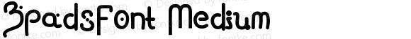 ZpadsFont Medium Version 001.000