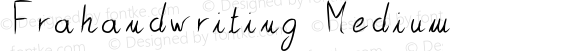 Frahandwriting Medium