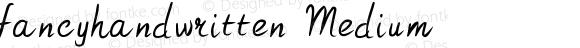 fancyhandwritten Medium