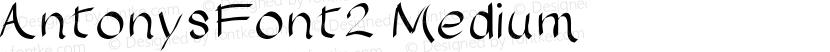 AntonysFont2 Medium Preview Image