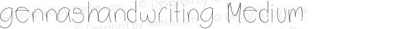 gennashandwriting Medium