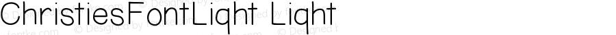 ChristiesFontLight Light Version 001.000