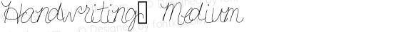 Handwriting3 Medium