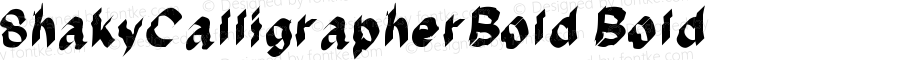 ShakyCalligrapherBold Bold Version 001.000