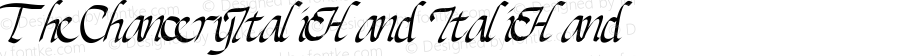 TheChanceryItalicHand ItalicHand Version 001.000