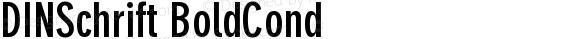 DINSchrift BoldCond