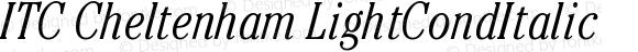 ITC Cheltenham LightCondItalic