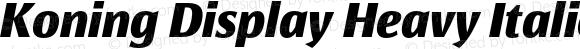 Koning Display Heavy Italic