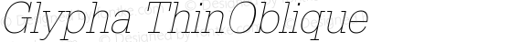 Glypha ThinOblique
