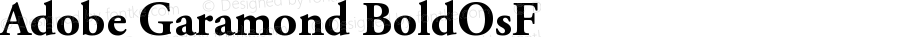 Adobe Garamond Bold Oldstyle Figures