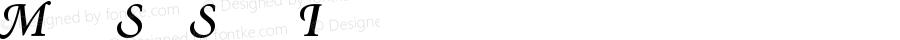 Minion Semibold Italic Swash