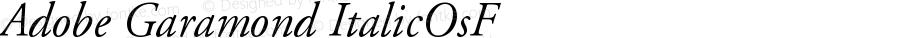 Adobe Garamond Italic Oldstyle Figures