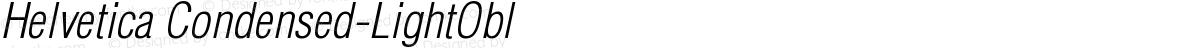 Helvetica Condensed-LightObl