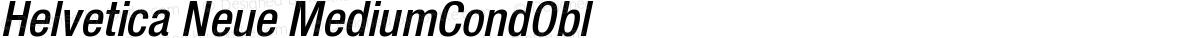 Helvetica Neue MediumCondObl