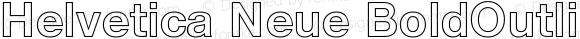 Helvetica Neue BoldOutline