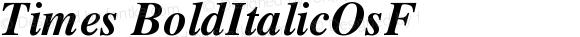 Times BoldItalicOsF Version 001.000