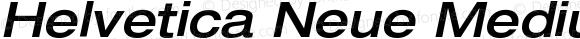 Helvetica Neue MediumExtObl