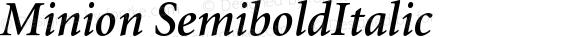 Minion SemiboldItalic