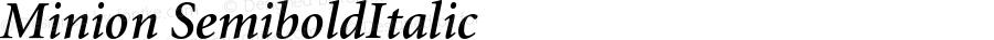 Minion Semibold Italic