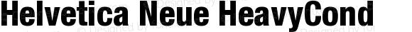 Helvetica Neue HeavyCond