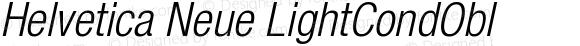 Helvetica Neue LightCondObl